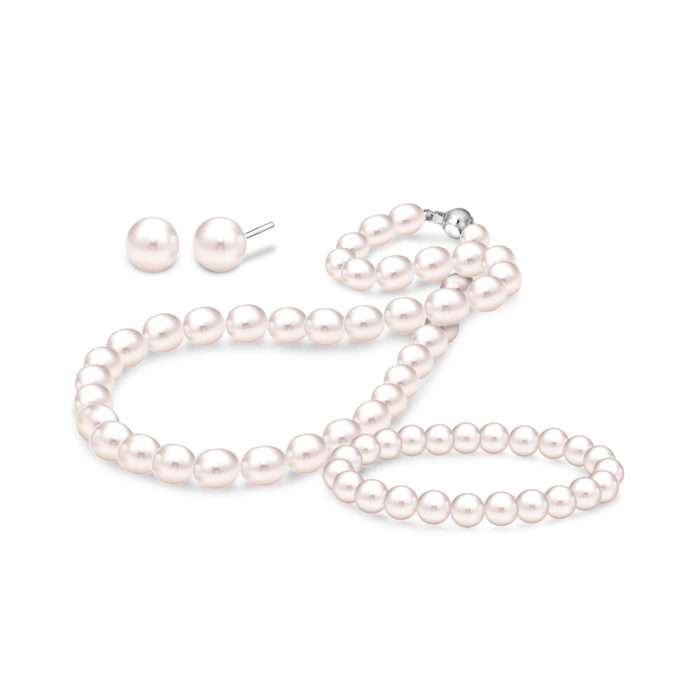 3-Pc Pearl Jewellery Set