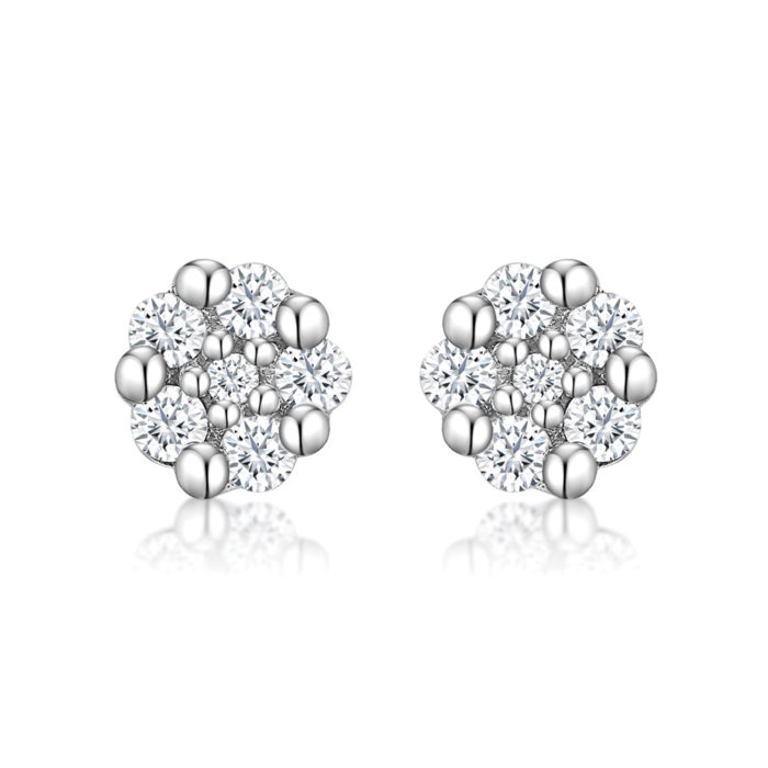 Cluster of Love Diamond Earrings
