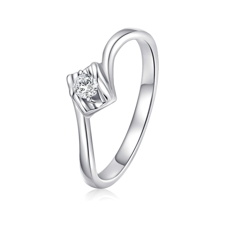 Simple Love Diamond Ring