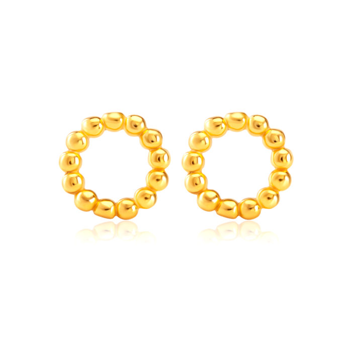 SK 916 Elegance In Me Gold Earrings