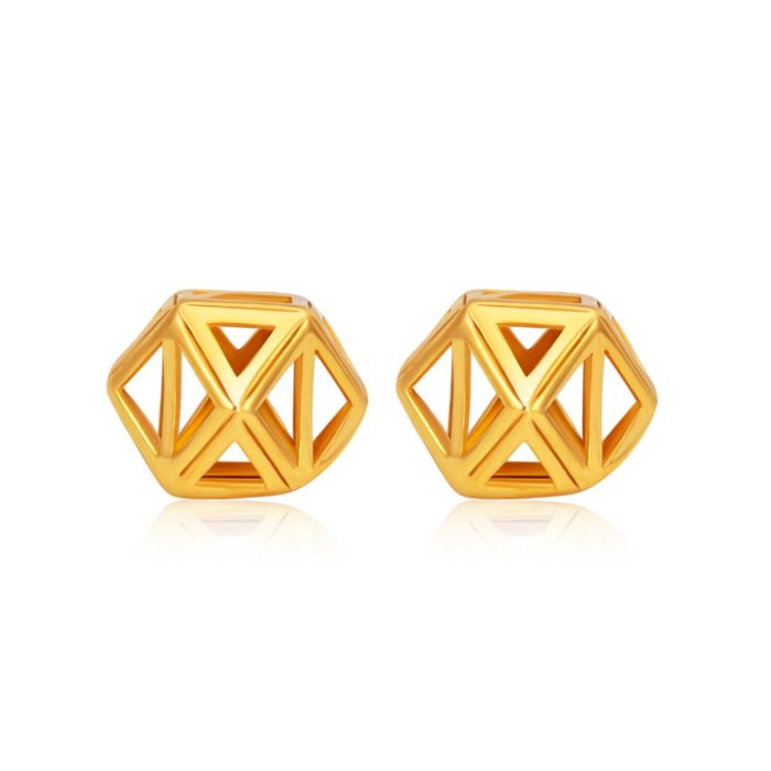 SK 916 Geometric Gold Earrings