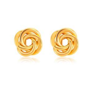 SK 916 Knot of Love Gold Earrings