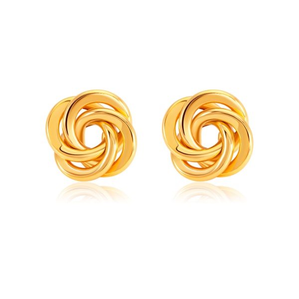 SK 916 Knot of Love Gold Earrings