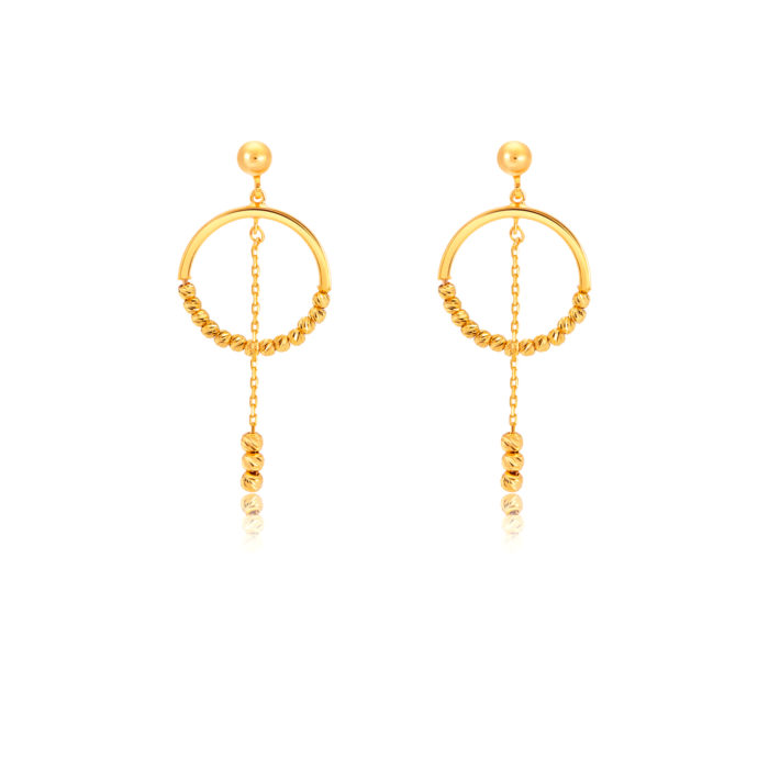 SK 916 Reena Gold Earrings