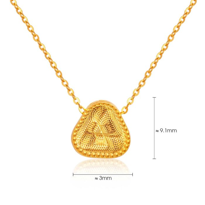 SK 916 Shine Triangle Gold Necklace