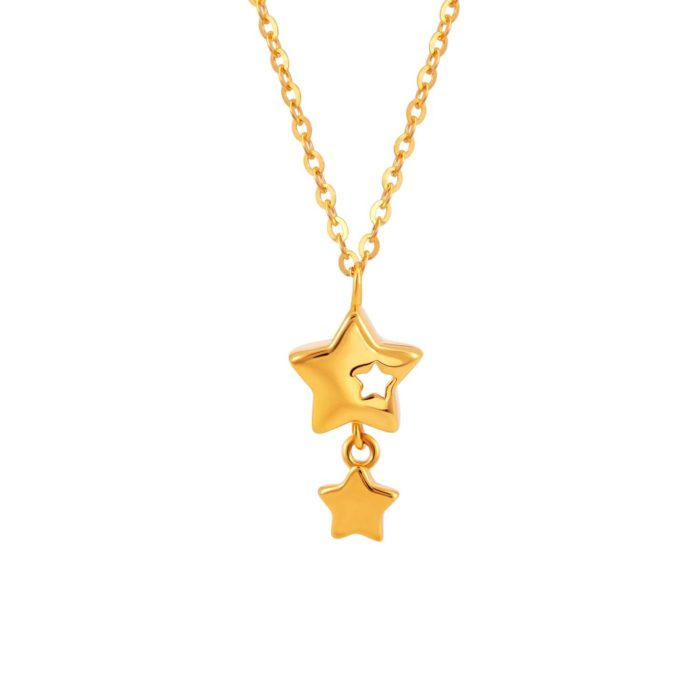 SK 916 Wish upon a Star Gold Necklace