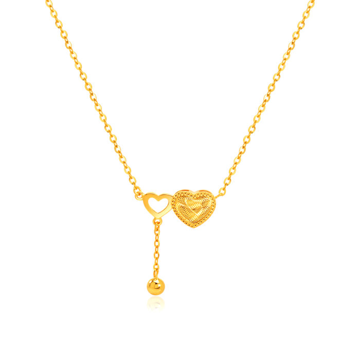 SK 916 Two Is Better Than One Gold Necklace