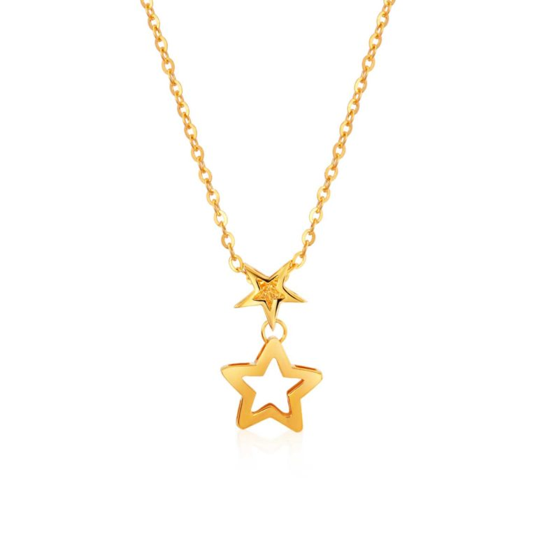 SK 916 Shooting Star Gold Necklace