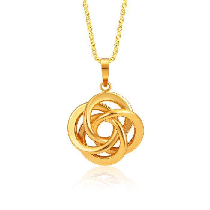 SK 916 Interwined Gold Pendant
