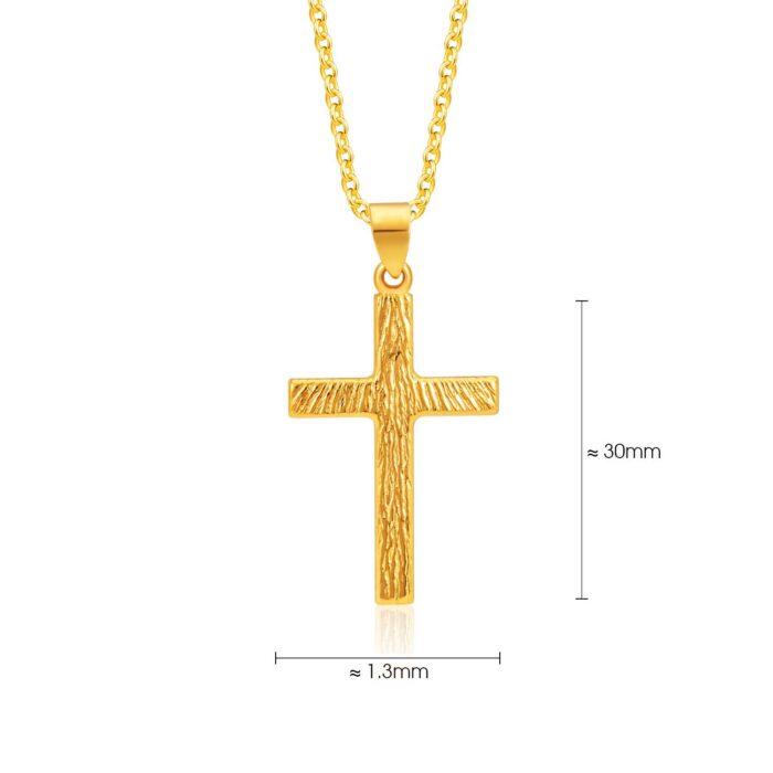 SK 916 Blessed Cross Gold Pendant