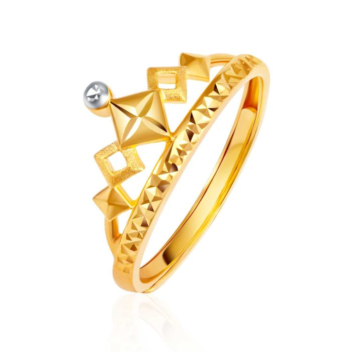 SK 916 Radiant Crown Gold Ring