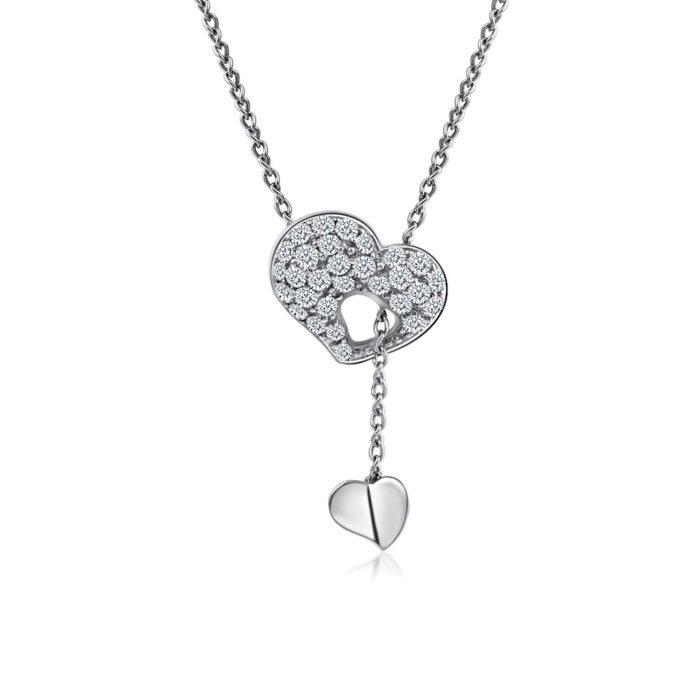 Through Your Heart Diamond Necklace