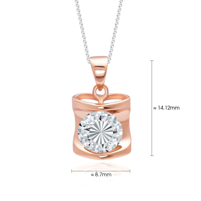 Raylia Rose Gold Pendant