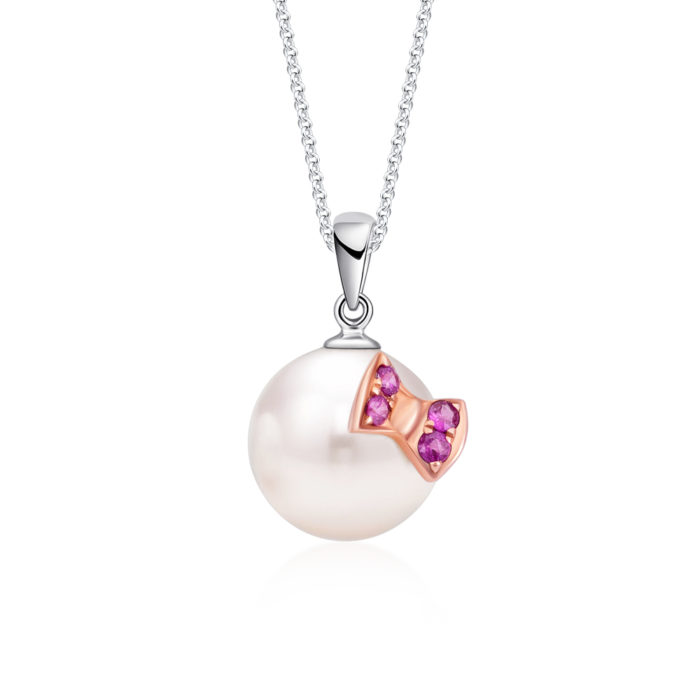 Brendy Bow Pearl Pendant