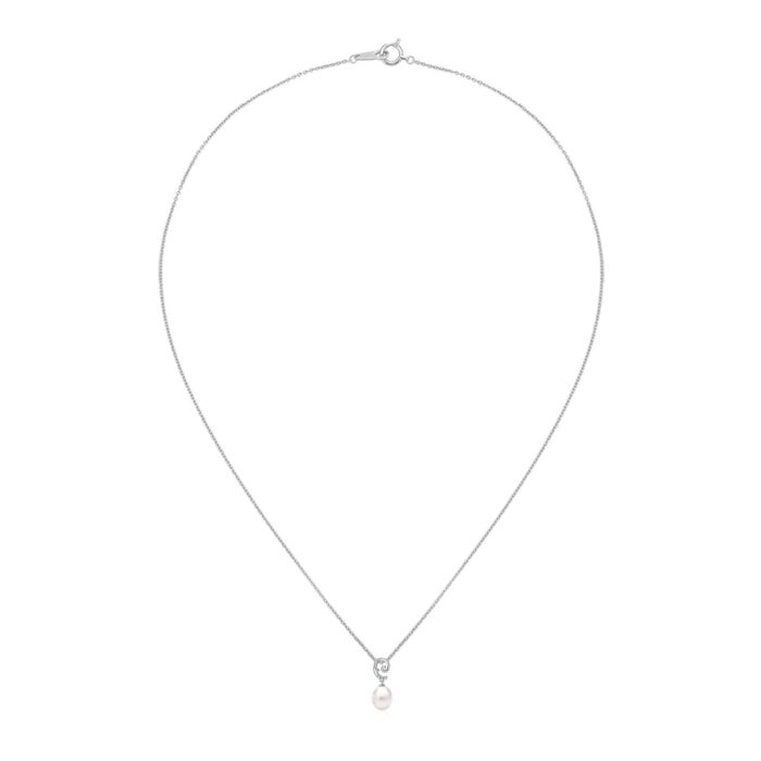 Forget Me Not Pearl Pendant