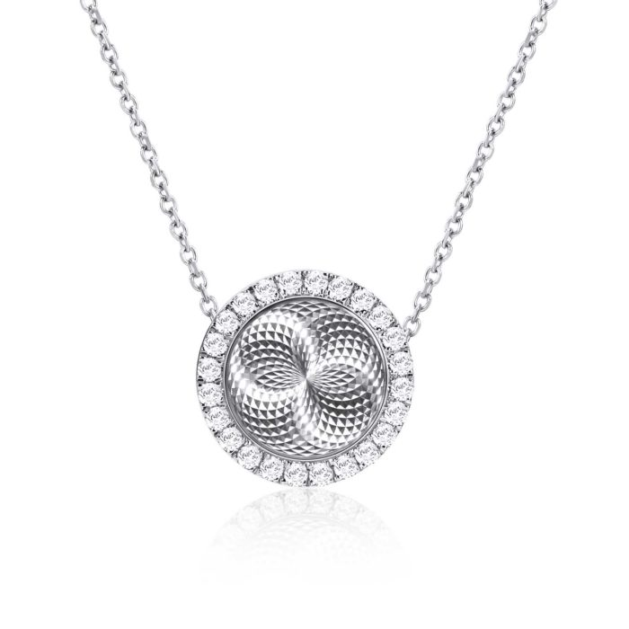 Reflection of Love Circle White Gold Diamond Necklace