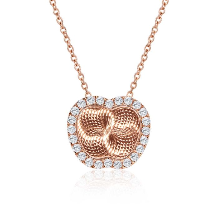 Reflection of Love Apple Rose Gold Diamond Necklace
