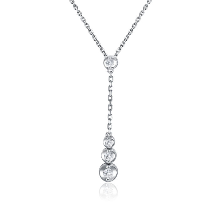 Tulla White Gold Diamond Necklace