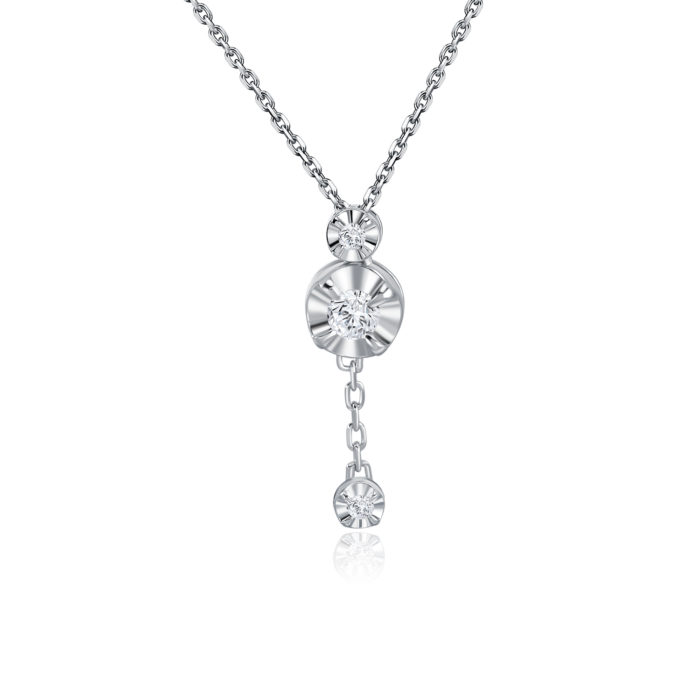 Reela White Gold Diamond Necklace