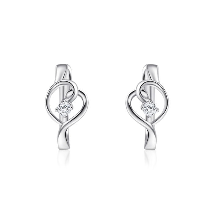 Cara Heart Diamond Earrings