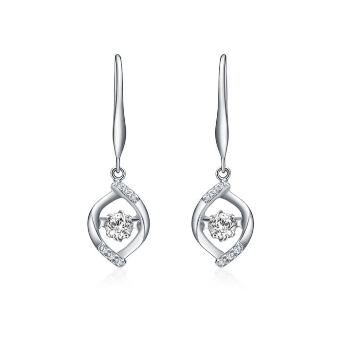 Venez Drop Diamond Earrings
