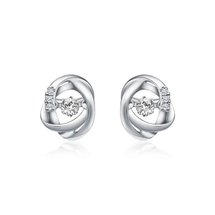 Infinity Orb Diamond Earrings