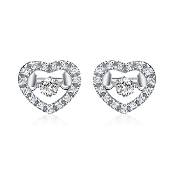 Wonder Heart Diamond Earrings