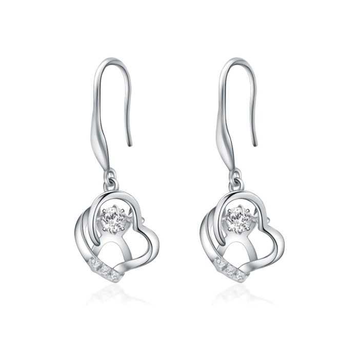 Take Heart Drop Diamond Earrings