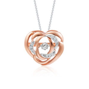 Flutter Heart Diamond Pendant