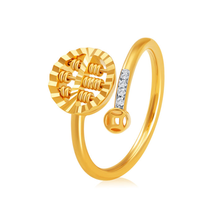 Whirl Abacus Diamond Ring