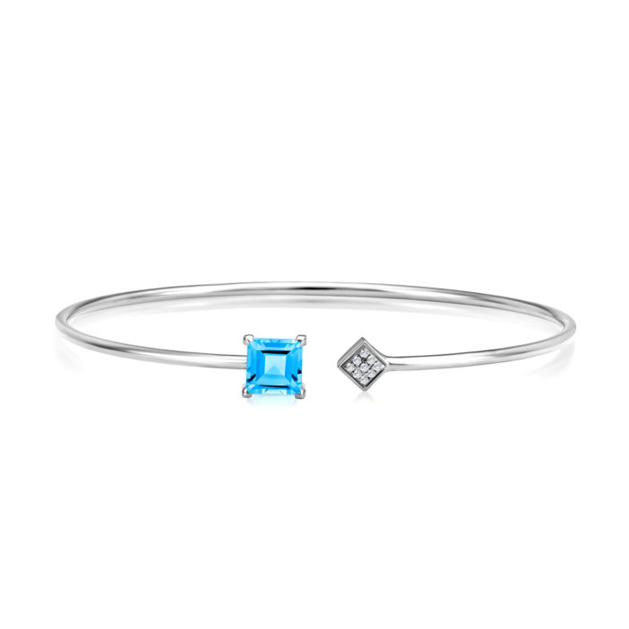 Kierra Blue Topaz Gem Bangle