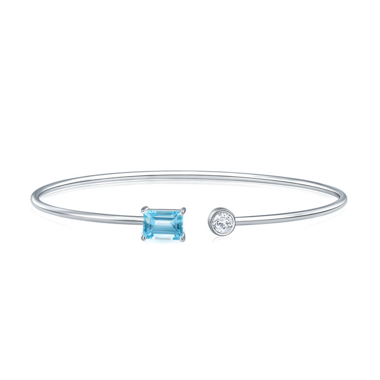Daphne Blue Topaz Gem Bangle