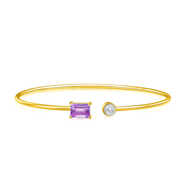 Jessy Amethyst Gem Bangle