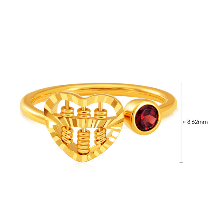Heart Abacus Gem Ring