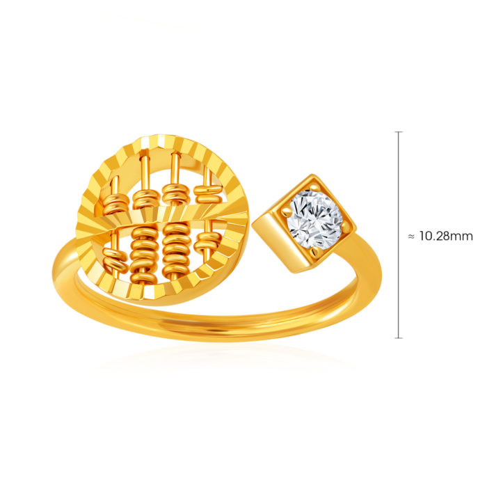 Whirl Abacus Gem Ring