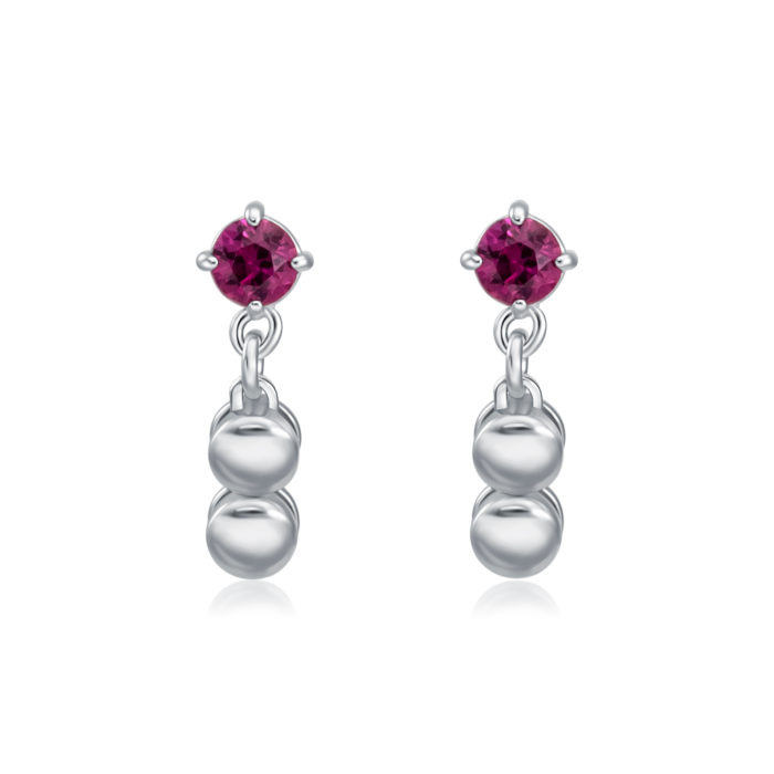 Yasmine Ruby Gem Earrings
