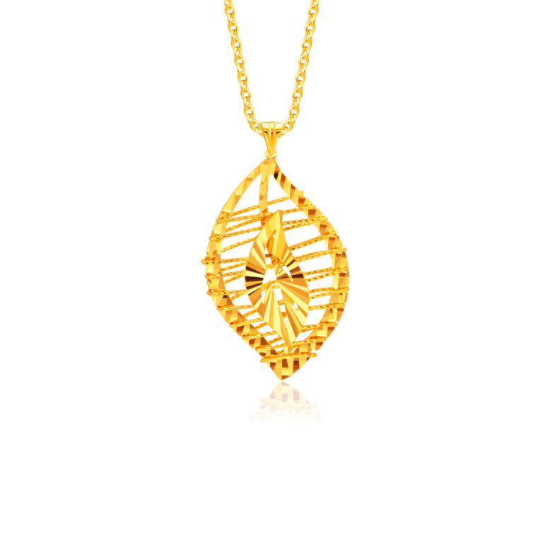 Flame of Love 5G Gold Pendant