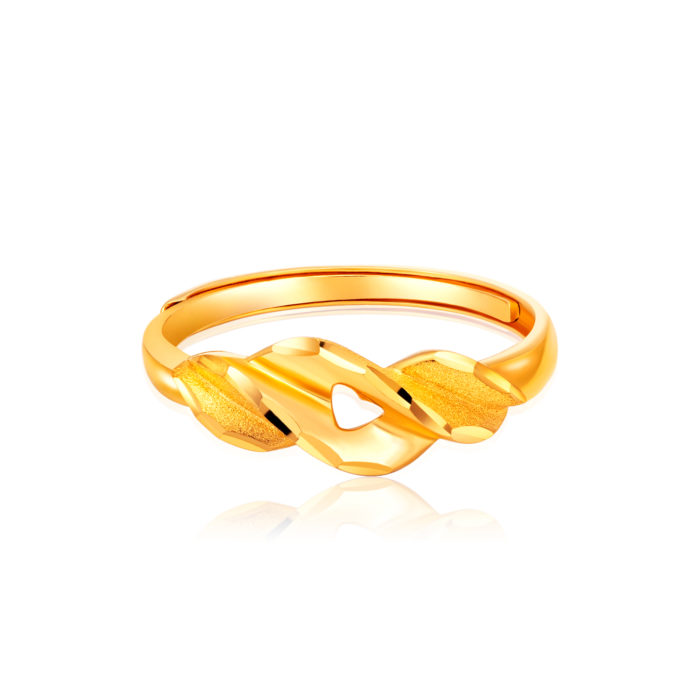 Trendy 5G Gold Ring