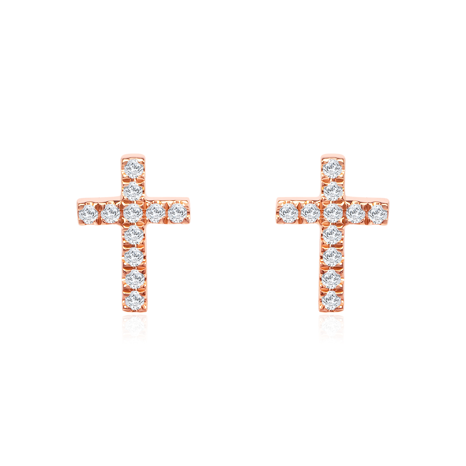 Starry Faith Rose Gold Diamond Earrings