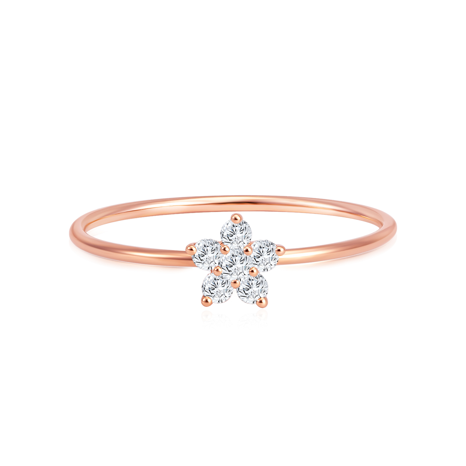 Starry Twinkle Rose Gold Diamond Ring