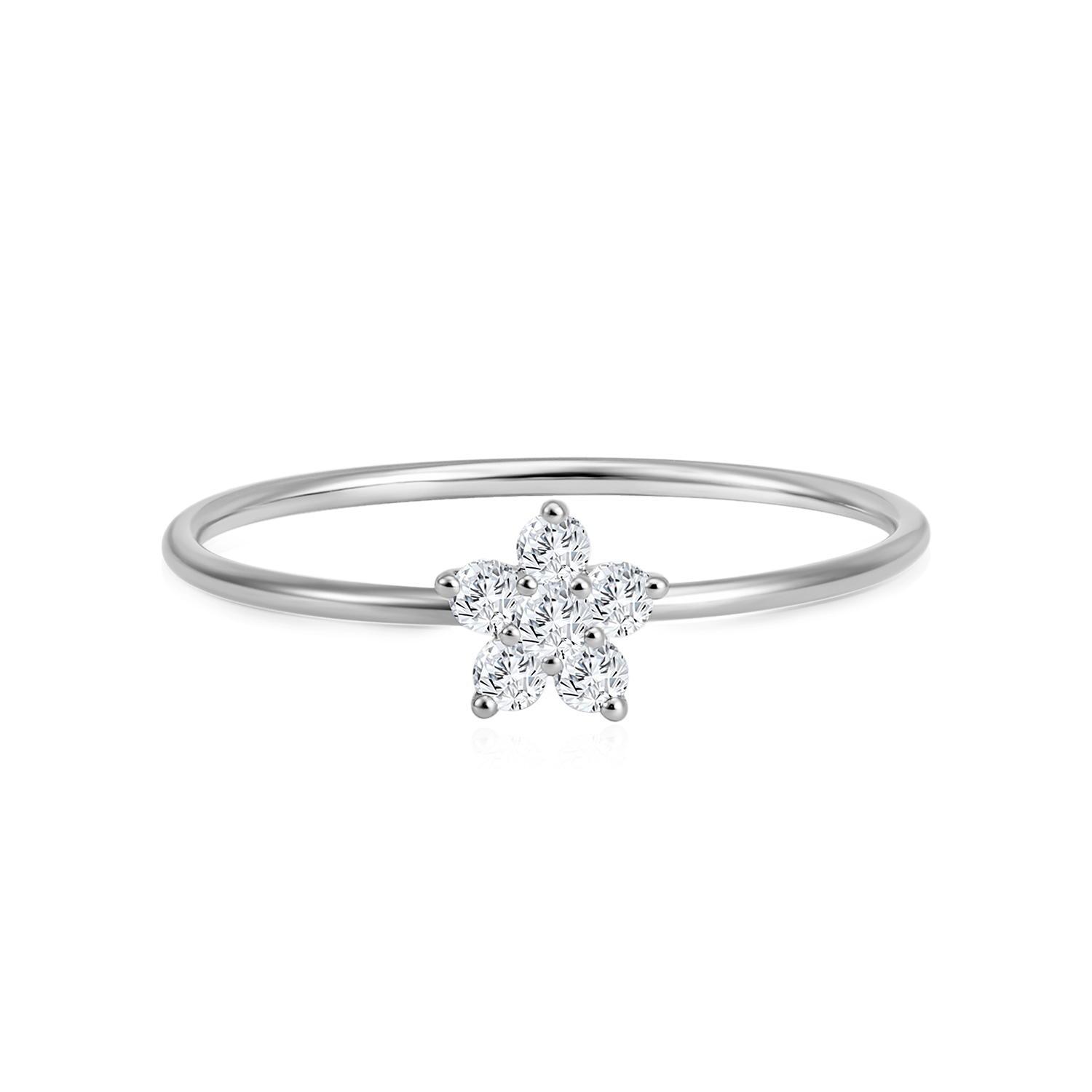 Starry Twinkle White Gold Diamond Ring