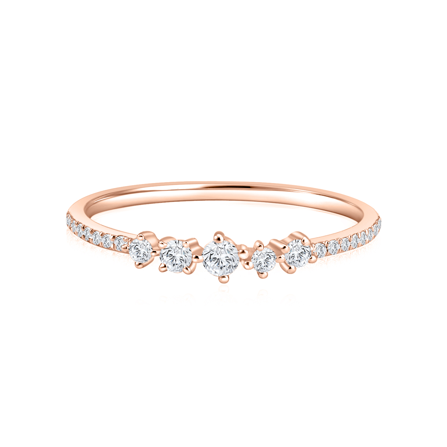 Starry Gema Rose Gold Diamond Ring