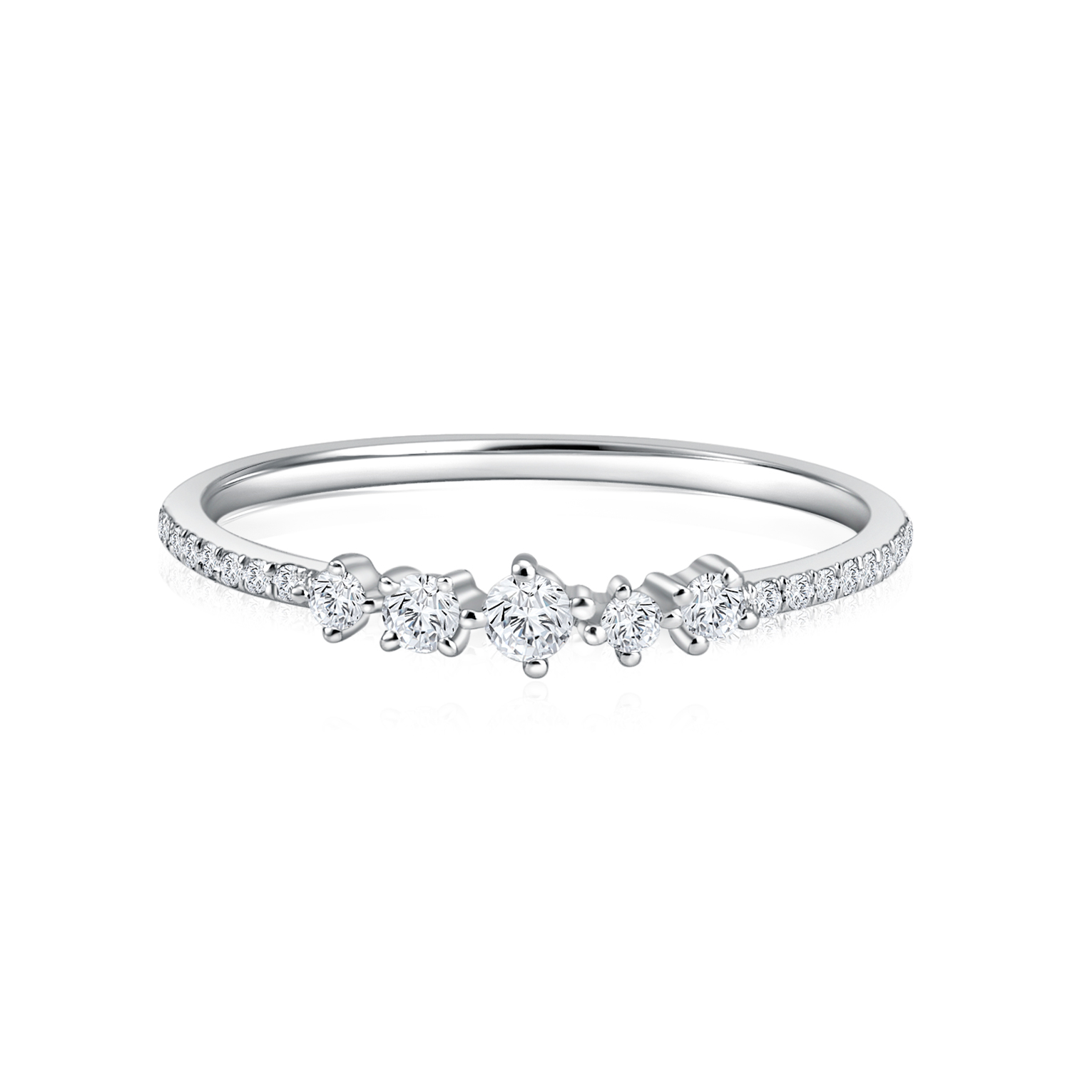 Starry Gema White Gold Diamond Ring