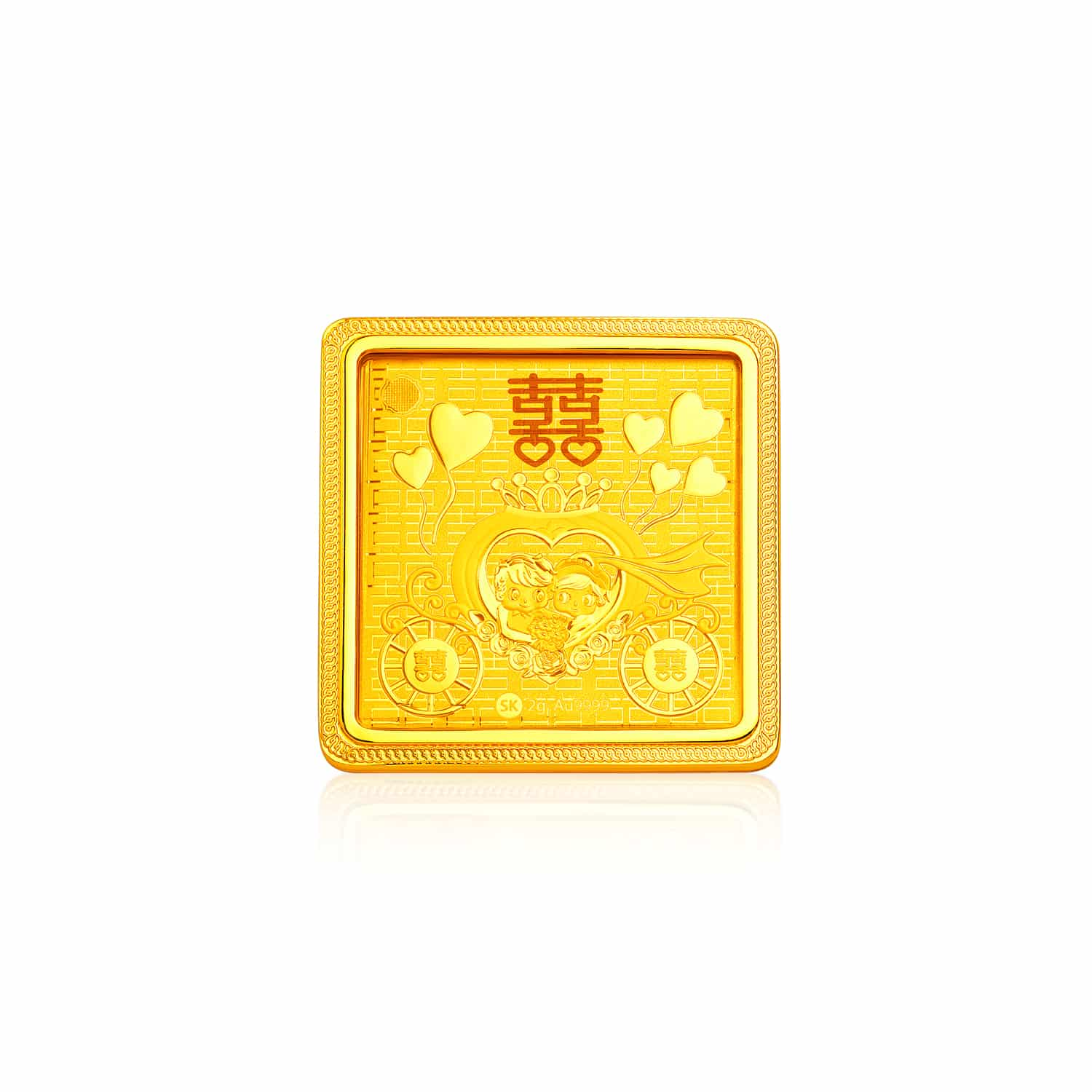 Blissful Marriage 999 Pure Gold Bar (2g)