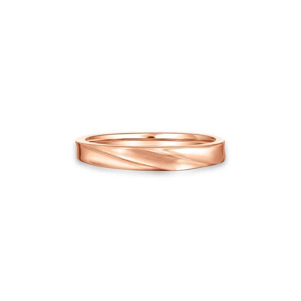 Momento Love Swirl Rose Gold Wedding Band