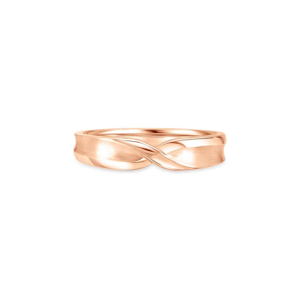 Momento Infinite Love Spark Rose Gold Wedding Band