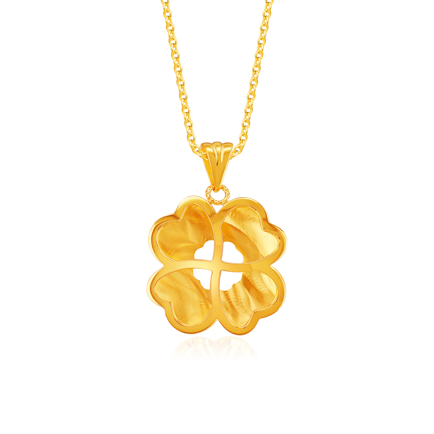 SK 916 Stay Lucky Gold Pendant