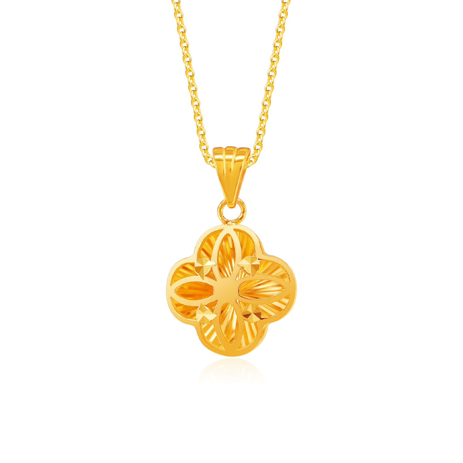 SK 916 Be My Lady Luck Gold Pendant