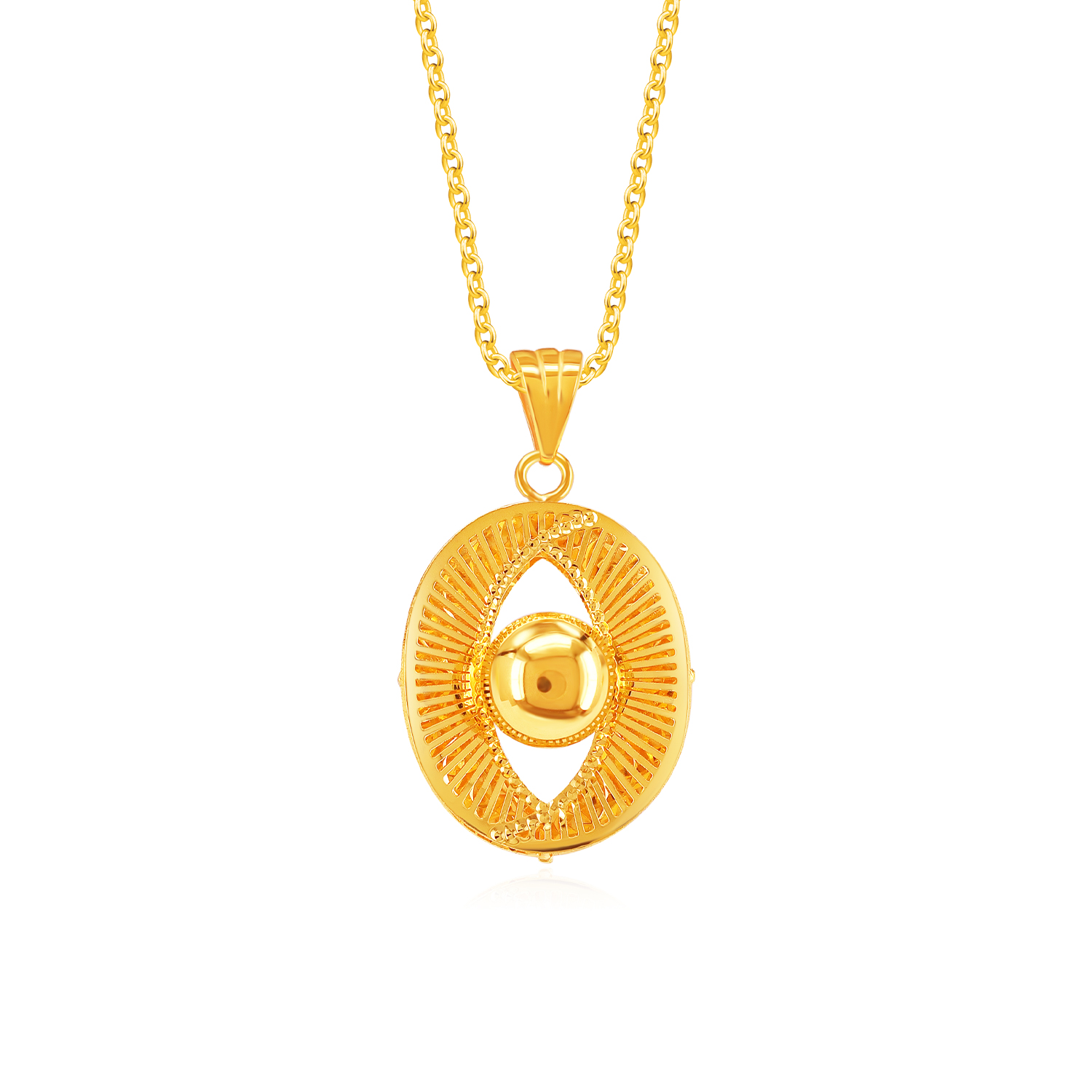 SK 916 Waves of Magnificence Gold Pendant
