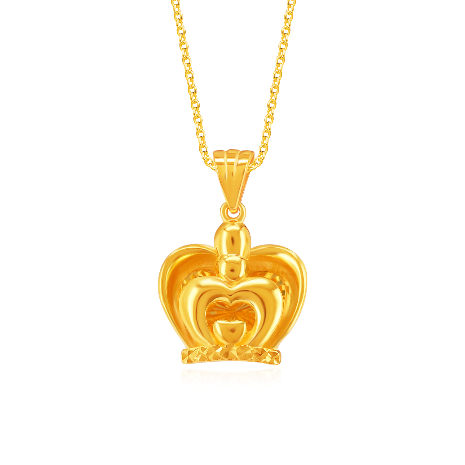 SK 916 Own the Crown Gold Pendant